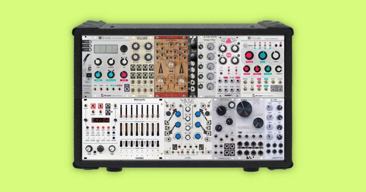 modular synthesizer mini sample bank right music records. Black Bedroom Furniture Sets. Home Design Ideas